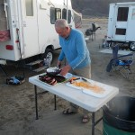 Jim cutting up the ribs.