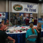 Kids' Fly Tying table.